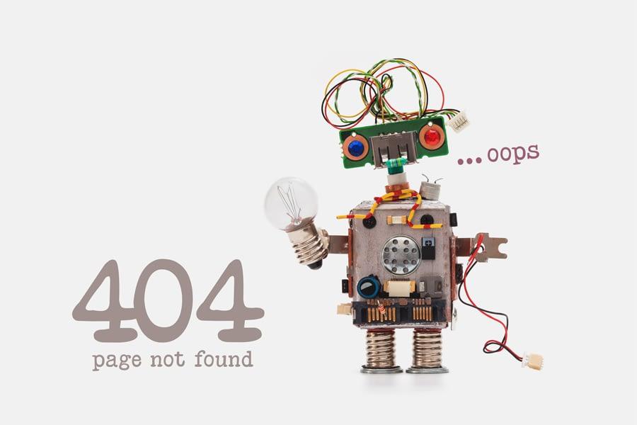 pagina non trovata error 404